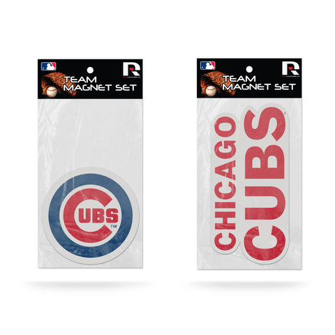 Chicago Cubs Magnet Set 2 piece Logo Wordmark NEW NCAA Free Shipping!