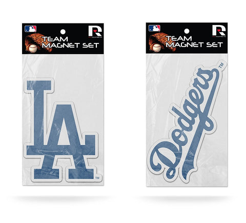 Los Angeles Dodgers Magnet Set 2 piece Logo Wordmark NEW MLB Free Shipping!