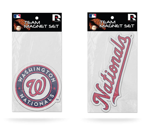 Washington Nationals Magnet Set 2 piece Logo Wordmark NEW MLB Free Shipping!