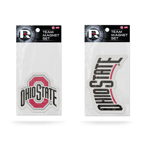 Ohio State Buckeyes Magnet Set 2 piece Logo Wordmark NEW NCAA Free Shipping!