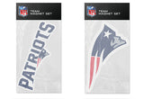 New England Patriots Magnet Set 2 piece Logo Wordmark NEW NFL Free Shipping!