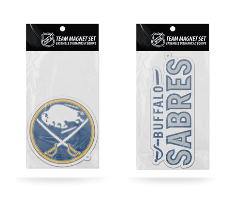 Buffalo Sabres Magnet Set 2 piece Logo Wordmark NEW NHL Free Shipping!