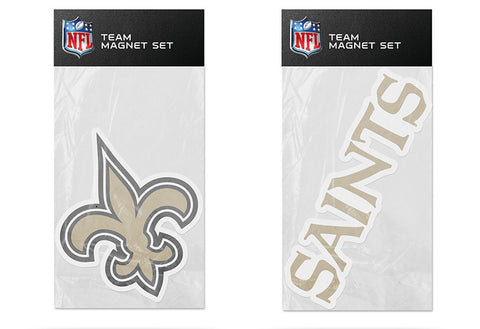 New Orleans Saints Magnet Set 2 piece Logo Wordmark NEW NFL Free Shipping!