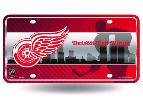 Detroit Red Wings Logo Aluminum License Plate NEW!!