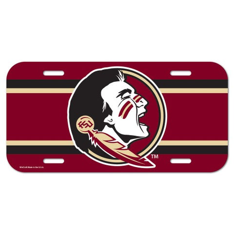Florida State Seminoles Logo Plastic License Plate NEW!! Free Shipping