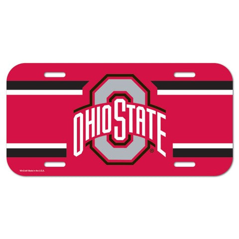 Ohio State Buckeyes Logo Plastic License Plate NEW!! Free Shipping