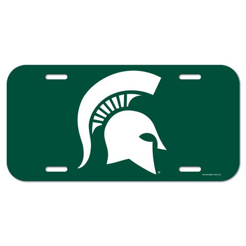 Michigan State Spartans Logo Plastic License Plate NEW!! Free Shipping