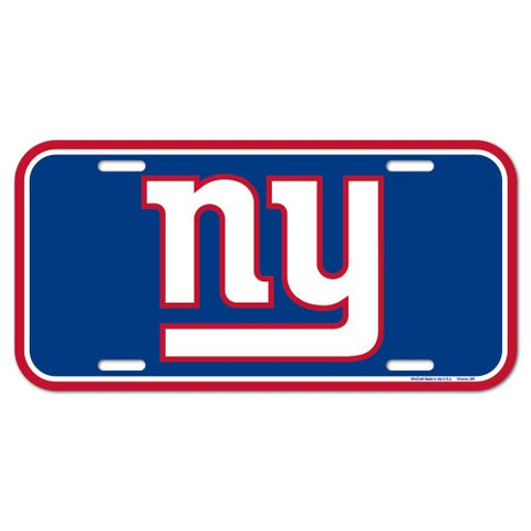 New York Giants Logo Plastic License Plate NEW!! Free Shipping