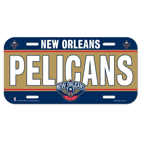 New Orleans Pelicans Logo Plastic License Plate NEW!! Free Shipping