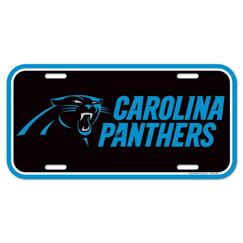 Carolina Panthers Logo Plastic License Plate NEW!! Free Ship 6x12 Inches