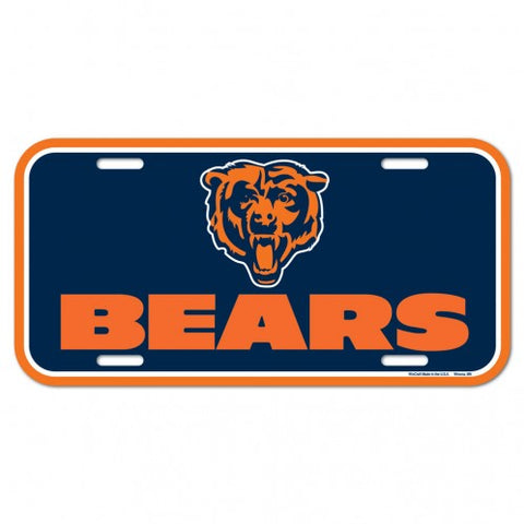Chicago Bears Logo Plastic License Plate NEW!! Free Shipping