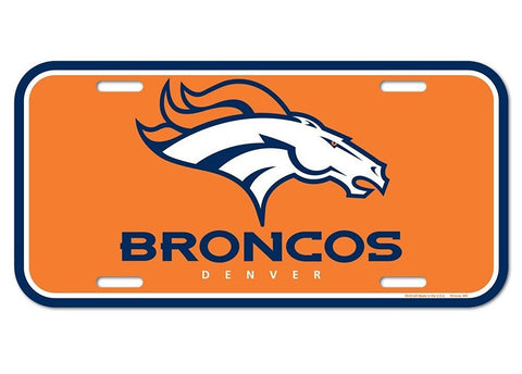 Denver Broncos Logo Plastic License Plate NEW!! Free Shipping