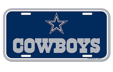 Dallas Cowboys Logo Plastic License Plate NEW!! Free Shipping