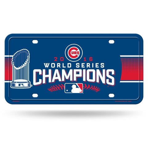 Chicago Cubs World Series Champions Aluminum License Plate NEW! Go Cubs Go!