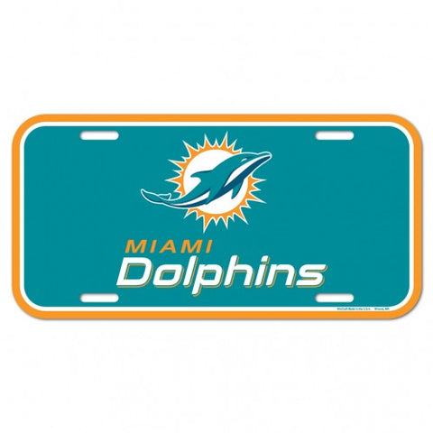Miami Dolphins Logo Plastic License Plate NEW!! Free Shipping