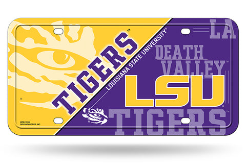 LSU Tigers Logo Aluminum License Plate NEW!!