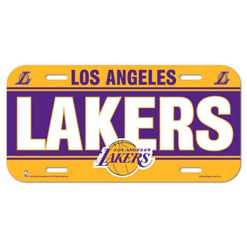 Los Angeles Lakers Logo Plastic License Plate NEW!! Free Shipping