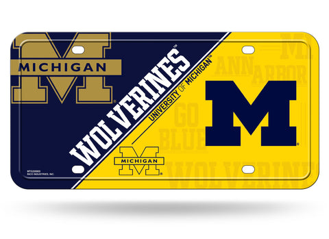 Michigan Wolverines Logo Aluminum License Plate NEW!!