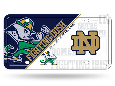 Notre Dame Fightin Irish Logo Aluminum License Plate NEW!!