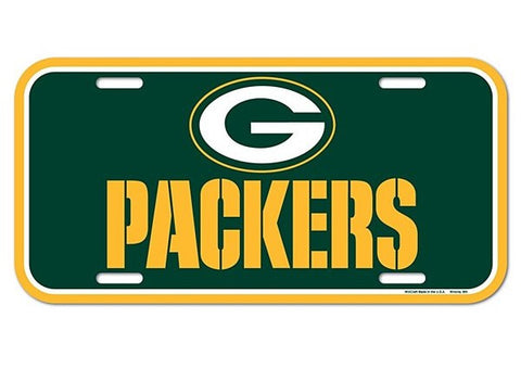 Green Bay Packers Logo Plastic License Plate NEW!! Free Shipping