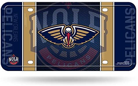 New Orleans Pelicans Aluminum License Plate NEW!