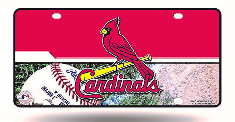 St. Louis Cardinals Logo Aluminum License Plate NEW!!