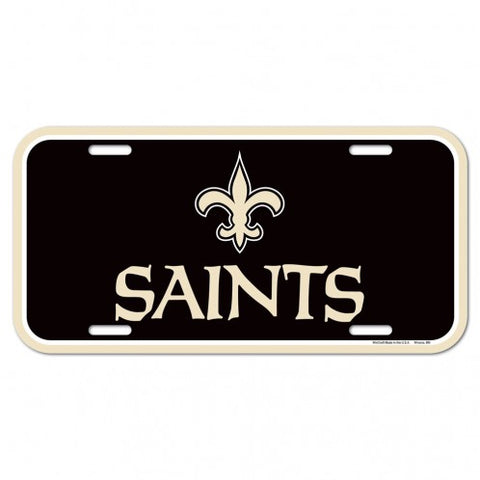 New Orleans Saints Logo Plastic License Plate NEW!! Free Shipping