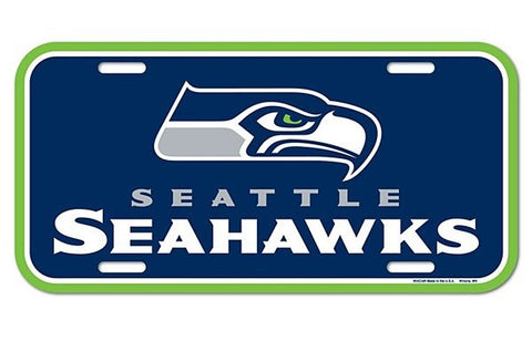 Seattle Seahawks Logo Plastic License Plate NEW!! Free Shipping