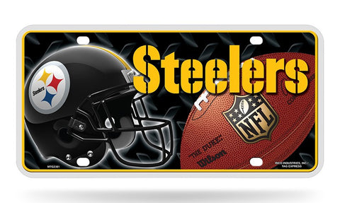 Pittsburgh Steelers Logo Aluminum License Plate NEW!! Helmet