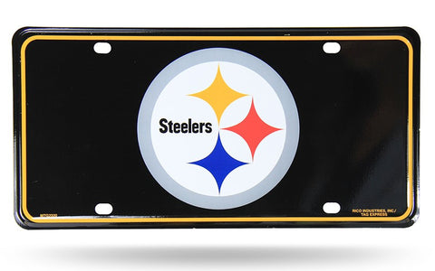 Pittsburgh Steelers Logo Aluminum License Plate NEW!!