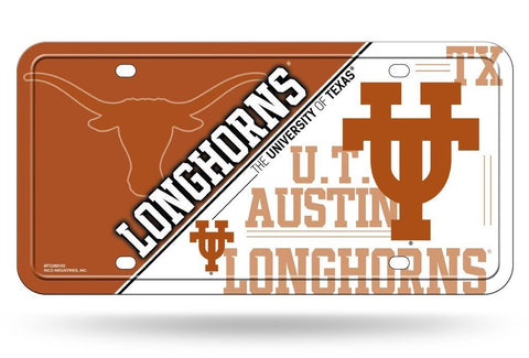 Texas Longhorns Aluminum License Plate NEW!! Hook 'Em