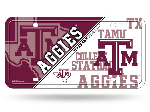 Texas A&M Aggies Aluminum License Plate NEW!! Gig 'Em