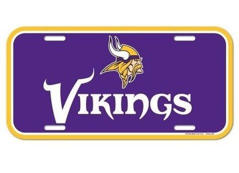 Minnesota Vikings Logo Plastic License Plate NEW!! Free Shipping