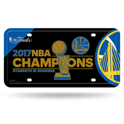 Golden State Warriors NBA Champions Aluminum License Plate NEW! 2017