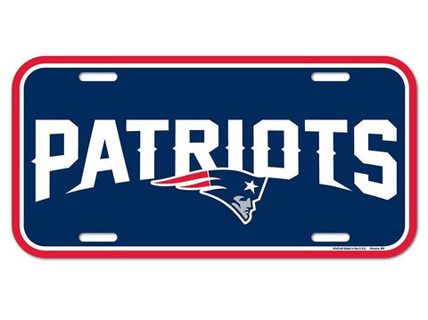New England Patriots Logo Plastic License Plate NEW!! Free Shipping