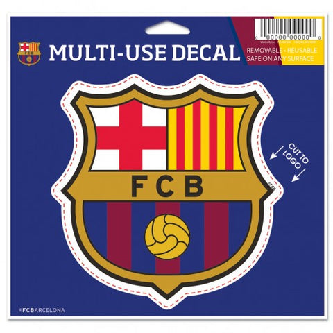 "FC Barcelona 4"" x 4"" Multi Use Die Cut Decal Window, Car or Laptop! Messi"