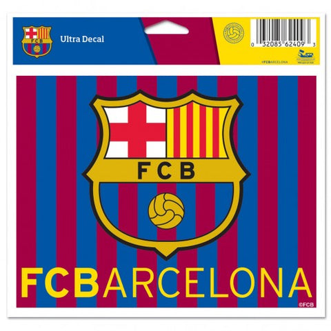 "FC Barcelona 4"" x 5"" Multi Use Decal Window, Car or Laptop! Messi"