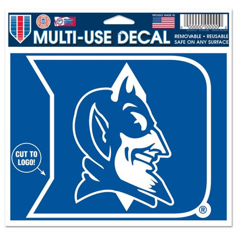 "Duke Blue Devils 4"" x 4"" Multi Use Die Cut Decal Window, Car or Laptop!"