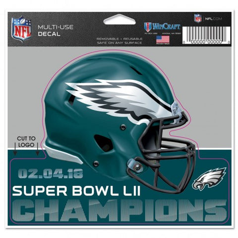 Philadelphia Eagles Super Bowl 52 Champions Die Cut Decal NEW!! 4 X 5 Window or Car!!! Laptop