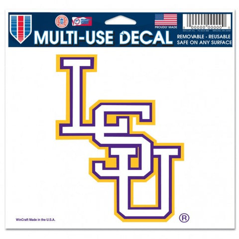"LSU Tigers Hat Logo 3"" x 4"" Multi Use Decal Window, Car or Laptop!"
