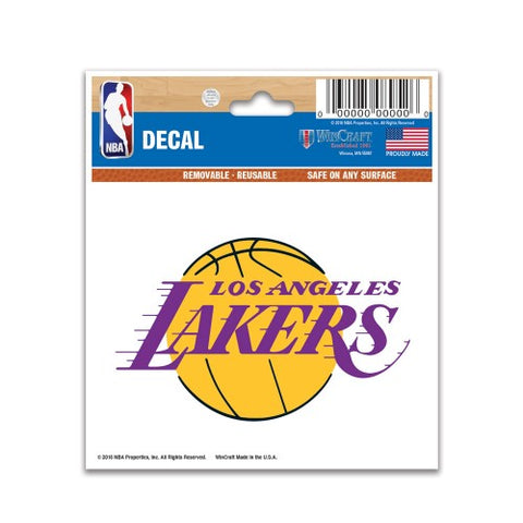 "Los Angeles Lakers 3"" x 4"" Multi Use Decal Window, Car or Laptop!"
