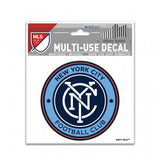 "NYC FC 3"" x 4"" Multi Use Decal Window, Car or Laptop! New York City"