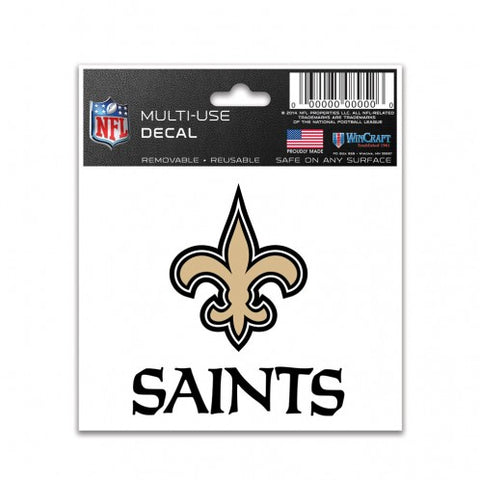 "New Orleans Saints 3"" x 4"" Multi Use Decal Window, Car or Laptop!"