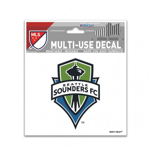 "Seattle Sounders 3"" x 4"" Multi Use Decal Window, Car or Laptop!"