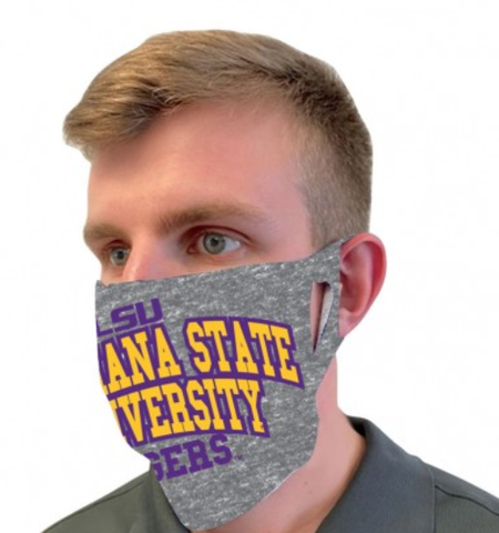 LSU Tigers Gray Fan Mask One Size Fits Most NEW!