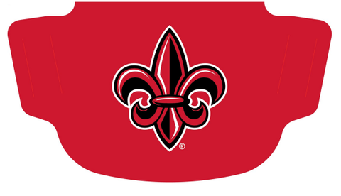 Louisiana Ragin Cajuns Fleur de Lis Fan Mask One Size Fits Most NEW!