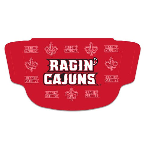 Louisiana Ragin Cajuns Wordmark Fan Mask One Size Fits Most NEW!