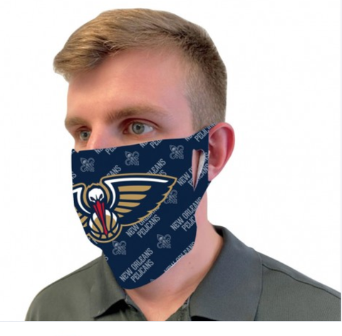New Orleans Pelicans Blue Fan Mask One Size Fits Most NEW! Wordmark