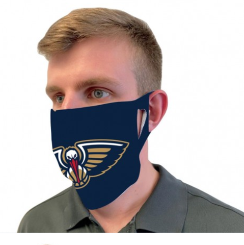 New Orleans Pelicans Logo Blue Fan Mask One Size Fits Most NEW!