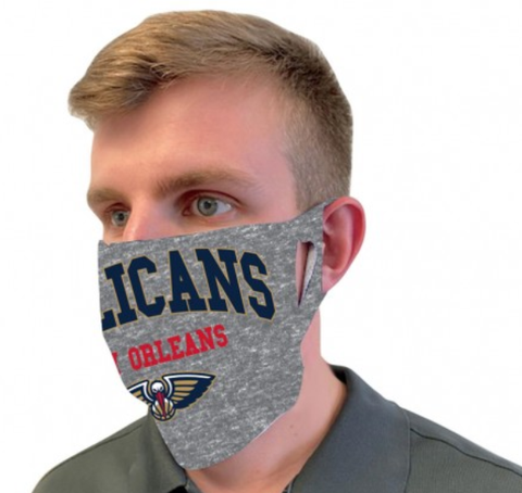 New Orleans Pelicans Gray Fan Mask One Size Fits Most NEW!